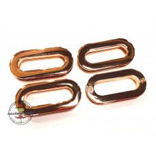 Schlaufe oval mit Schrauben gold * 25 mm  4 Stück