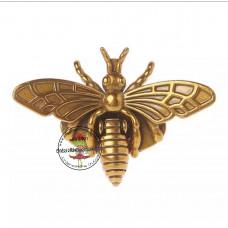 Klappverschluss Biene gold