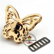 Drehverschluss Schmetterling gold