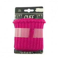 Cuff UNI LUREX gerippt * Pink