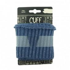 Cuff UNI LUREX gerippt * Jeansblau