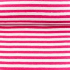 Ringelbündchen * pink/weiß