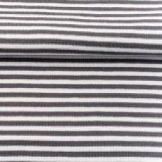 Ringelbündchen * dunkelgrau/weiß