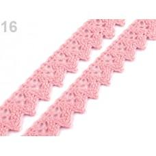Klöppelspitze ZickZack Rosa