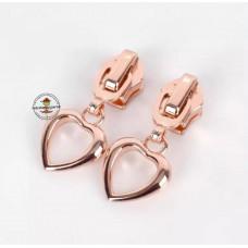 Reißverschluss Zipper * Herz Rosegold 5mm * 1 Stück
