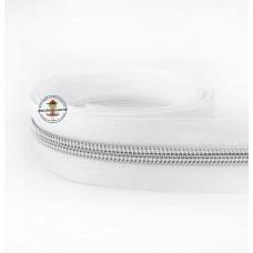 Metallisierter Reißverschluss * Weiß - Silber 5mm