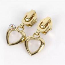 Reißverschluss Zipper * Herz Gold 5mm * 1 Stück