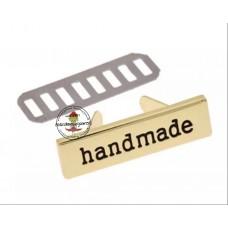 Metall Label handmade GOLD
