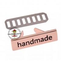 Metall Label handmade ROSEGOLD