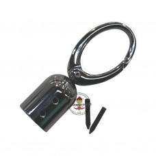 MEGA XL Tassel Cap 15 mm, Gunmetal