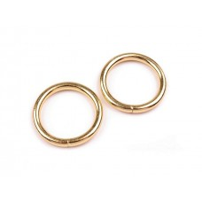 O-Ring, Metallring Ø25 mm, 2 Stück, Gold