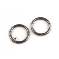 O-Ring, Metallring Ø25 mm, 2 Stück, Gunmetal