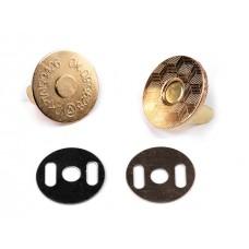 Magnetverschluss 18 mm gold