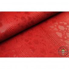 Lederimitat ♥ Kunstleder Schlangen - Optik ♥ Rot