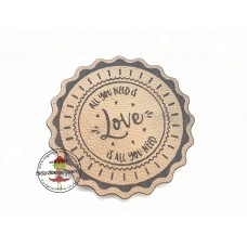 Kunstleder Label  ♥ EIGENPRODUKTION  ♥  all you need is love