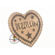 Kunstleder Label  ♥ EIGENPRODUKTION  ♥  Herzilein