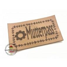 Kunstleder Label  ♥ EIGENPRODUKTION  ♥  MUTTERPASS