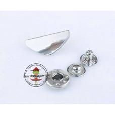 Druckknopf Dreieck Silber