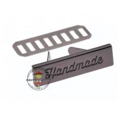 Metall Label handmade Gunmetal/schwarz