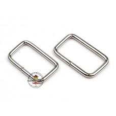 Schlaufe*vierkantig 13 mm x 25 mm Silber 4 Stück