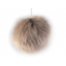 Fellbommel naturbraun Ø 8cm
