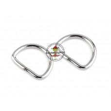 D-Ring Silber 20 mm 2 Stück