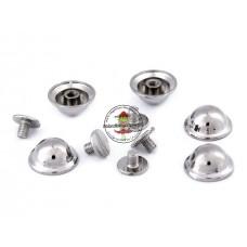 Schraubnieten Silber rund ♥ Ø 9,5 mm