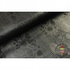 Lederimitat ♥ Kunstleder Schlangen - Optik ♥ SCHWARZ