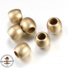 Acryl Großlochperle* Gold *30 Stück