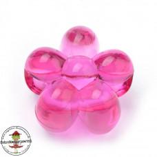 Acryl Großlochperle ♥ 20 Stück ♥ Blümchen Pink