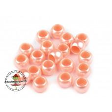 Acryl Großlochperle ♥ 40 Stück ♥ Apricot