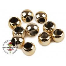 Acryl Großlochperle ♥ 20 Stück ♥ Metallic Gold
