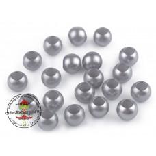 Acryl Großlochperle ♥ 40 Stück ♥ Silber
