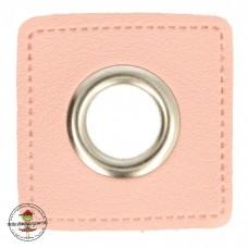 Ösenpatch mit Öse 11 mm * rosa * 1 Paar