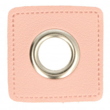 Ösenpatch mit Öse 8 mm * rosa * 1 Paar
