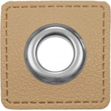 Ösenpatch mit Öse 10 mm ♥ beige ♥ 1 Paar