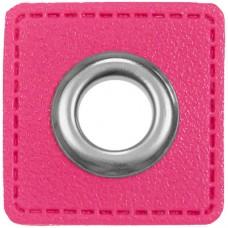 Ösenpatch mit Öse 10 mm ♥ pink ♥ 1 Paar