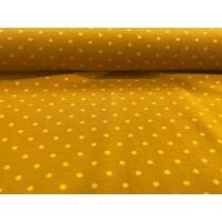 Baumwoll Jersey Kombi ♥ Pünktchen ♥ Senf - Gelb