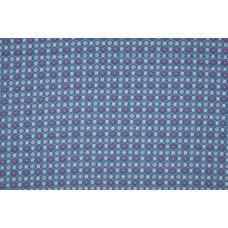 BW Popeline Flowerraute blau