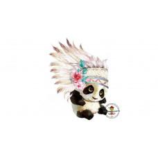 Panda Bügelbild