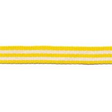 Ripsband*Grosgrainband Gelb*Weiß gestreift