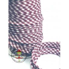Paspelband ♥ Vichy ♥ Bordeaux