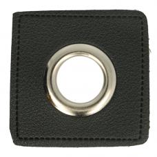Ösenpatch mit Öse 8 mm * schwarz * 1 Paar