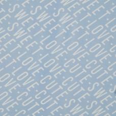 Baumwoll Jersey Cute Love Hellblau