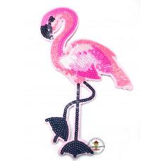 Flamingo Pailetten Aufbügler