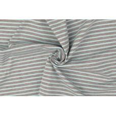 Ringel Baumwoll Jersey * Grau - Aqua