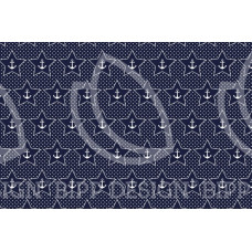 BIPP Design® * Baumwoll Jersey Anker-Star * Austin * Marine