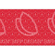 BIPP Design® * Baumwoll Jersey Anker-Star * Austin * Red
