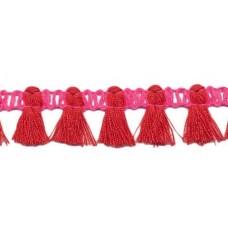 Mini Quastenborte Pink*Rot