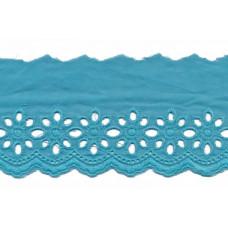 Wäschespitze Blütenzauber 80 mm ♥ aqua Baumwolle